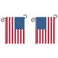 banderas blancas negras al por mayor-Bandera de jardín 30 * 45Cm Blue Line Red Line Banderas de policía de Estados Unidos Negro Blanco Azul Bandera americana Fiesta Party Supplies 10lj gg