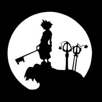 Atacado 10pcs / lot Handsome Little Prince Holding A Scepter Reino Corações Sora Moon Funny Car Sticker Caminhão Janela Car Cover Vinyl Decal