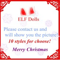 Plush ELF Dolls Red Girl Boy Figura Duendes de Natal de Natal Novidade Brinquedos Xmas Gift For Kids Holiday Gift