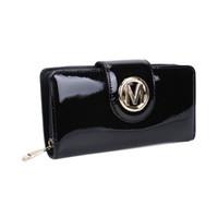 sacs à main d'embrayage achat en gros de-Lady portefeuilles détenteurs d'embrayage sac plaine Casual long et court Hasp cuir verni paquet de carte de crédit Multi-bit mode femmes bourse VKP1441-2