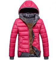 casaco modelo feminino venda por atacado-2018 novas Mulheres Para Baixo Parkas modelos femininos esporte casaco além de veludo jaqueta de inverno das mulheres quente com capuz jaqueta Removível frete grátis
