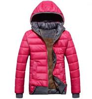 chaquetas femeninas envío gratis al por mayor-2018 nuevas mujeres Down Parkas modelos femeninos abrigo deportivo más terciopelo abajo chaqueta de invierno cálido con capucha de la mujer extraíble envío gratis
