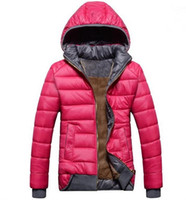 ceket yeni model toptan satış-2018 yeni kadın Aşağı Parkas bayan modelleri spor ceket artı kadife aşağı ceket kadın kış sıcak kapüşonlu ceket Çıkarılabilir ücretsiz kargo