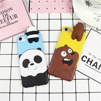 Wholesale Yellow Bear Cases - Cute 3D toys bears brothers phone Cases For iphone 6 6s 6plus 7 7Plus Cute Cartoon soft silicon case back cover