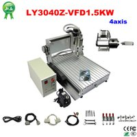 Wholesale Water Cooled Cnc Router - high quality 4axis cnc wood router LY 3040Z-VFD1.5KW with 1500W water cooling spindle inclue tax to Russsia