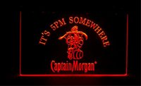 Wholesale Neon Bar Sign Captain Morgan - it's 5pm Somewhere Captain Morgan beer bar 3d signs culb pub led neon light sign home decor crafts