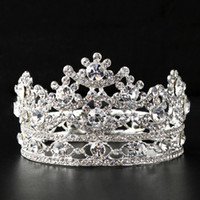 Wholesale mini crown free shipping resale online - New Arrival Bridal Crystal Tiaras Wedding Accessories Headpiece Mini Crown Tiara Hair Jewelry Accessories for Women