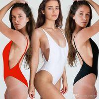 Wholesale Lingerie Backless Bodysuit - 2017 Summer Sexy Women Bodycon Leotard Underwear Halter Backless Lingerie Bodysuit Bikini Swimsuit Brand New High Quality
