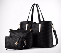 Wholesale Women 3pcs Casual - famous designer luxury brands women bag set good quality medium women handbag set 3pcs set new women shoulder bag
