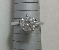 Wholesale Gold D Ring - 2 Ct Round Cut Diamond Engagement Ring SI1 D 14K White Gold Enhanced