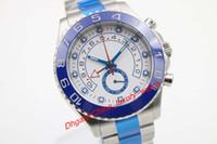 Wholesale Watch Dials Seller - Hot seller luxury brand new watches men II 116680 white dial ceramic bezel watch automatic movement sapphire glass watches mens dress wristw