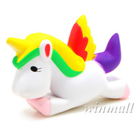 Wholesale Fly Charm - 13.5CM Simulation Flying Unicorn Pony Horse Squishy Toys Slow Rising Squeeze Jumbo Squishies