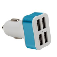 Wholesale Hp Car Adapter - Wholesale-4 USB Port Car Charger Tablet Cigarette Lighter Adapter 1.0A 2.1A 3.4A For iphone 6 6s ipad Samsung Xiaomi Car-charger #HP
