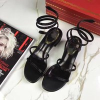 Wholesale Lace Up Ballet Slippers - new brand moer color ankle wrap Bind high heels flats womenleisure Slipper cloth diamond Sandals shoes flip flop ballet embroidery vintage