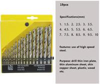 dünne bleche großhandel-19 Stück Lochsäge Metallbearbeitung Twist Mini Hartmetall HSS Bohrer Set Werkzeug Für dünne Eisenplatte dünne Aluminiumblech, dünne Kupferplatte Plast