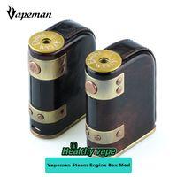 Wholesale Wholesale Steam Engines - Original Vapeman STEAM ENGINE DNA75 Box Mod 75W Vape Mod Power by Dual 18650 battery Vs Snowwolf vfeng Sigelei Kaos E cigs