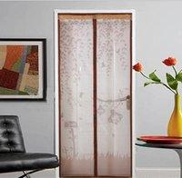 magnete vorhänge großhandel-Umweltfreundlich Schirm-Tür-Vorhang-Fenster Anti-Moskito-Schlafzimmer High Grade Magnet Weiche Landschaft Vorhang Wohnzimmer Gardinen Flies