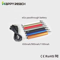 Wholesale Ego U Mini - Wholesale-1pc Ego passthrough battery mini e cigarette 650mah 900mah 1100mah ego u ego t pass through batteries with micro usb e cig