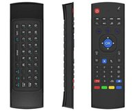 Wholesale Universal Tv Box - X8 Air Fly Mouse MX3 2.4GHz Wireless Keyboard Remote Control Somatosensory IR Learning 6 Axis without Mic for Android TV Box