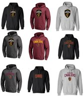 Wholesale Basketball Number 23 - 17-18 CLEVELAND CAVALIER new logo Hoodies USA basketball 3 Isaiah Thomas 23 Lbron JAMES NAME AND Number SWEATSHIRTS