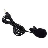 Wholesale Teaching Microphone Speaker - Mini Portable Lapel Lavalier Tie Clip Metal Mono Microphone for Lound Speaker For Lectures Teaching Recording Free Shipping LH9