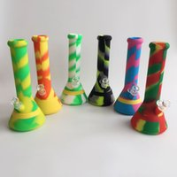 Wholesale Hot Selling inch Height Silicone Water Pipe Silicone Bong Unbreakable water pipe with mm joint