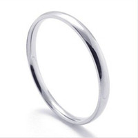 Wholesale Simple Rings For Girls - Simple 2mm cheap Stainless Steel Rings for women ladies Bulk Jewelry Wholesale Cheap Ring men fashion girl gifts Drop Shipping