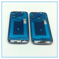 Wholesale Lcd S4 Black - DHL Shipping 50pcs lot Original Parts LCD Front Bezel Frame Faceplate Housing Cover Case For Samsung Galaxy S4 SIV i9505 i9500 Silver Black