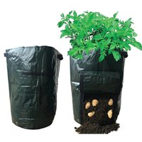 Wholesale Growing Medium Wholesale - Garden Potato Grow Bag Flowers Vegetables Planter Bag Flag for Harvesting Eco-friendly Waterproof Bag Garden planting Bags