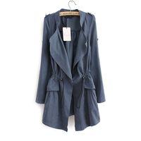 Wholesale Korea Fashion Style Coat Woman - Wholesale- Woman Jackets Coat 2016 New Fashion Slim Solid Casual Women Coat Autumn Korea Style Solid Jacket For Women