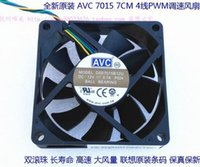 Wholesale Temperature Speed Control - AVC 7015 7CM DS07015B12U 12V 0.70A 70*70*15MM 4 wire dual ball speed control temperature control fan