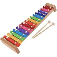 Wholesale Music Instruments For Kids Wholesale - Wholesale 15 Scales Xylophone For Baby Kid Music Instrument Learning Toy Early Educational Toy High Quality Baby Safe DHL Free shipping