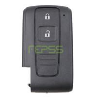 toyota anahtar fob kabuğu değiştirme toptan satış-Yüksek Kalite Yedek Shell Anahtarsız giriş için Akıllı Uzaktan Anahtar Kutu Fob 2 Düğme Toyota Prius Corolla Verso