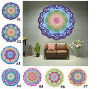 Wholesale Tablecloths Tassels - Indian Mandala Beach Towel Printed Tassel Tapestry Bohemian Serviette Covers Beach Shawl Wrap Yoga Mat Hippy Boho Tablecloth 7 Design