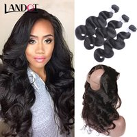 Brazilian Virgin Hair Tece 3 Pacotes Com 360 Encaixes Completos de Encaixe Frontal 8A Peruvian Indian Malaysian Body Wave Remy Hair Hair Closures