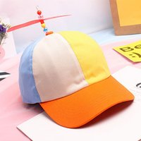 Wholesale Dragonfly Propeller - Wholesale- Funny Adult Kids Propeller Baseball Caps Colorful Patchwork Brand Hat Propeller Bamboo Dragonfly Children Boys Girls Snapback
