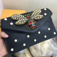 Wholesale Genuine Leather Shoulderbag - New 2017 summer women lether shoulderbag cross body bag with fashion brand style free shipping cute bea with pearl retail and whosale