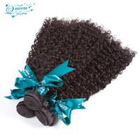 güzellik kraliçeleri saç uzantıları toptan satış-Malezya Bakire Saç 3 Demetleri Sapıkça Kıvırcık Bakire Malezya Kinky Kıvırcık Örgü Uzantıları Sınıf 8a Kraliçe Örgü Güzellik Bakire Saç demetleri
