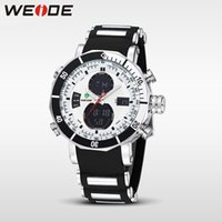 WEIDE Quartz Digital Watch Men Relógios de esporte Waterproof Military Alarm Cronômetro Dual Time Zones Brand New relogios masculinos