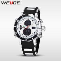 Wholesale Weide Quartz Sport Watches - WEIDE Quartz Digital Watch Men Sports Watches Waterproof Military Alarm Stopwatch Dual Time Zones Brand New relogios masculinos