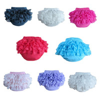 Wholesale Toddler High Waist Shorts - Baby Lace Shorts Kids Tulle Bloomers Ruffle PP Pants Toddlers Sweet Bread Pants Newborn Summer Shorts Infant Diaper Cover Underwear H685
