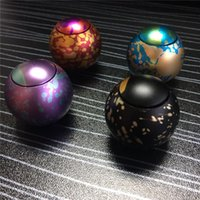 Multicolor sports stars football - Newest Star ball Hand spinner starry sky ball aluminum alloy ball decompression toys football fidget finger spinner with double bearing