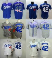 Wholesale Cheap 42 - Hot Sale Mens Womens Kids Toddlers Los Angeles Dodgers 42 Jackie Robinson Top Quality Cheap Full Embroidery Logos Stitched Baseball Jerseys