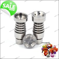 Wholesale Nail Polish Promotions - promotion 14mm&18mm Gr2 domeless titanium nail with big bowl-male joint,very polished and easy to clean