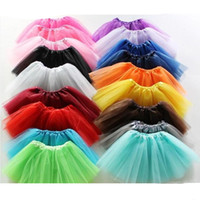 Wholesale Orange Dancewear - Best Match Baby Girls Childrens Kids Dancing Tulle Tutu Skirts Pettiskirt Dancewear Ballet Dress Fancy Skirts Costume Free Shipping