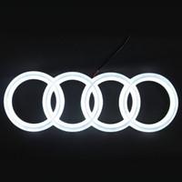 Wholesale Rear Blue Strobe - 4D Emblem light lamp For Audi A3 Q5 led Rear 4D Badge Sticker light 4D led logo light Emblems