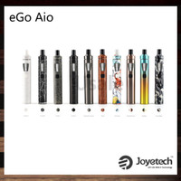 Wholesale Ego New Batteries - Joyetech eGo AIO Kit New Color Version All-In-ONE Style 2ml Capacity 1500mah Battery Adjustment of Air Inflow 100% Original