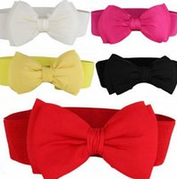 Wholesale Sculpted Bows - Wholesale New Bow tie belly body sculpting waist girdle female fashion elastic decorative belt