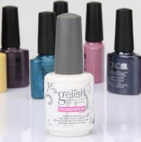 Wholesale Gelish Color Gel Nail Polish - Free Shipping Top quality Harmony Gelish 440 Colors 15ml Gel Polish Nail Accessories UV Color Gel Soak Off Nail Gel