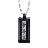 Wholesale D Link Stock - Shardon wholesale Stainless steel and the Great Wall grain inlay pendant Mens pendant have in stock